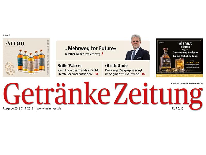 Interview Getränke-Zeitung: Mehrweg ist Zukunft