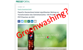 """Ist die 100% rPET von Pepsi """"Greenwashing""""?"""